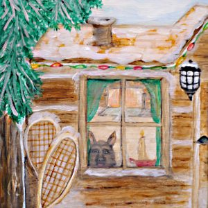 Old Winter Cabin Print