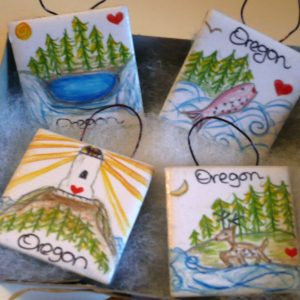Oregon Ornament Set