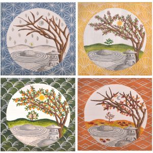Japanese Garden Seasons – print set