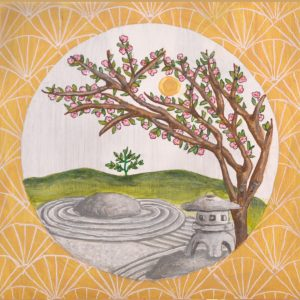 Japanese Garden- Spring Print