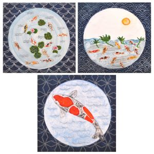 Koi Pond print set