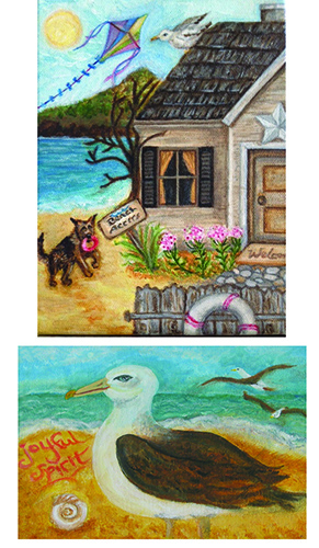 Old Beach Cottage + Joyful Spirit Print Set