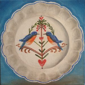 Bluebird China Platter print