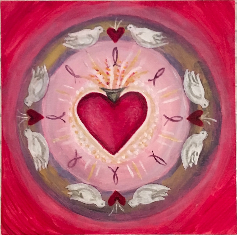 sacred heart mandala robin phillips studio
