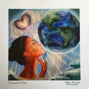 Universal Love Giclee Print- 10×10